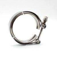 3 uds de acero inoxidable v-band Clamp brida de conexión de tubería 63mm para 2 tubos OD