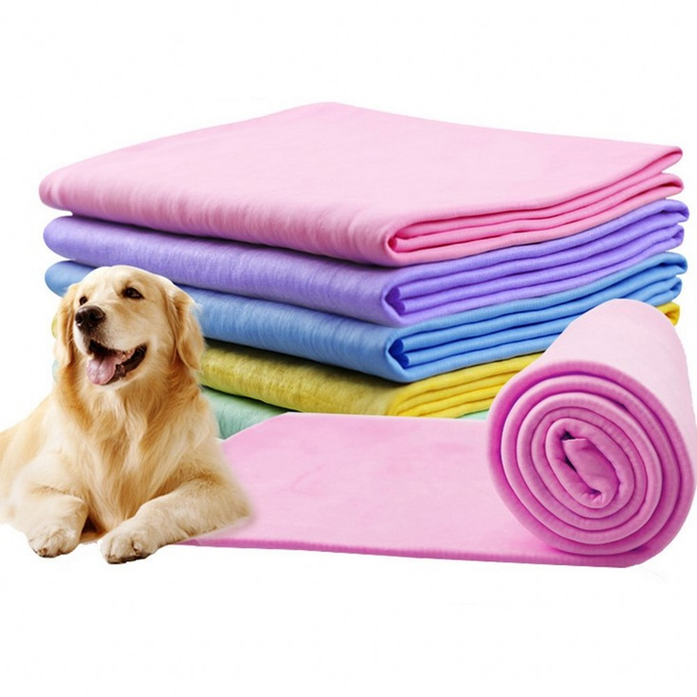2020 New Pet Dog Bath Towel Imitation Deerskin Cat Small Dogs Super Absorbent Towel Cleaning Grooming For Large Dogs Towel