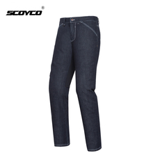 SCOYCO Motorcycle Pants Men Summer Breathable Motorbike Jeans Moto Pants Motorbike Riding Trousers With CE Knee Protective