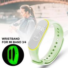 Luminous Wristband For Mi Band 3/4 Smart Bracelet Two-color Universal Silicon Replacement Fluorescent Strap kpop ss501 kim hyun joong silicon bracelets luminous bracelet wristband pulseras 19278