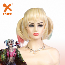 XCOSER Birds of Prey Quinn Wig Cosplay Headwear Props Party Costume