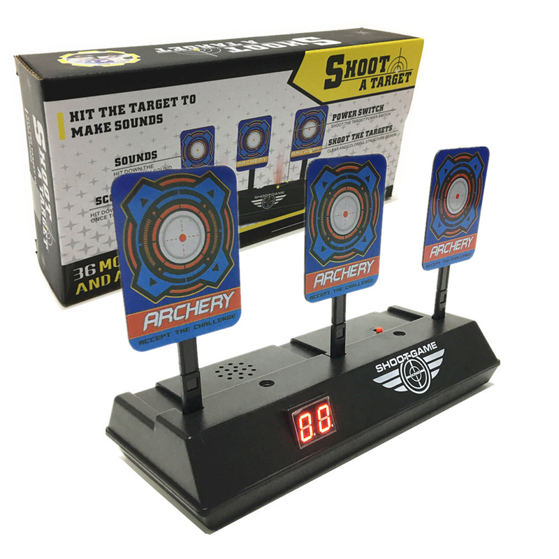 Shooting Target Scoring Shooting Game High Precision Scoring Auto Reset Electric Gun Paintball Accessories For Nerf Toys