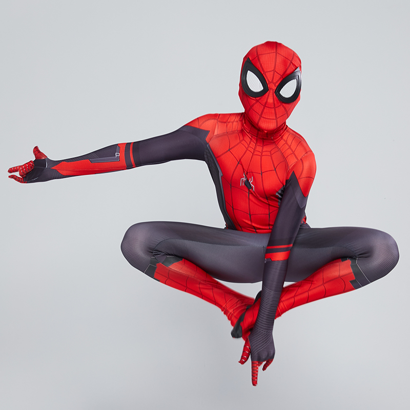Kids Adult Spider Man Far From Home Peter Parker Cosplay Costume Zentai Spiderman Superhero Bodysuit Jumpsuits Halloween Costume 6