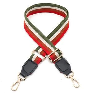 Image 2 - Neue Tasche Ersatz Schulter Strap Geneigt Spanne Einzelnen Schulter frauen Tasche Zubehör Gürtel Rucksack mit Farbe Streifen