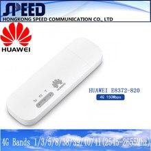 Desbloqueado huawei E8372h-820 e8372 wingle lte universal 4g usb modem wifi suporte móvel 16 usuários de wifi