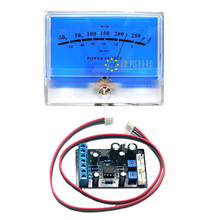 1pcs Classic Lake blue DB Header Level Audio Power Amplifier VU Meter McIntosh figure with 1 pcs TA7318P VU meter Driver Board цена и фото