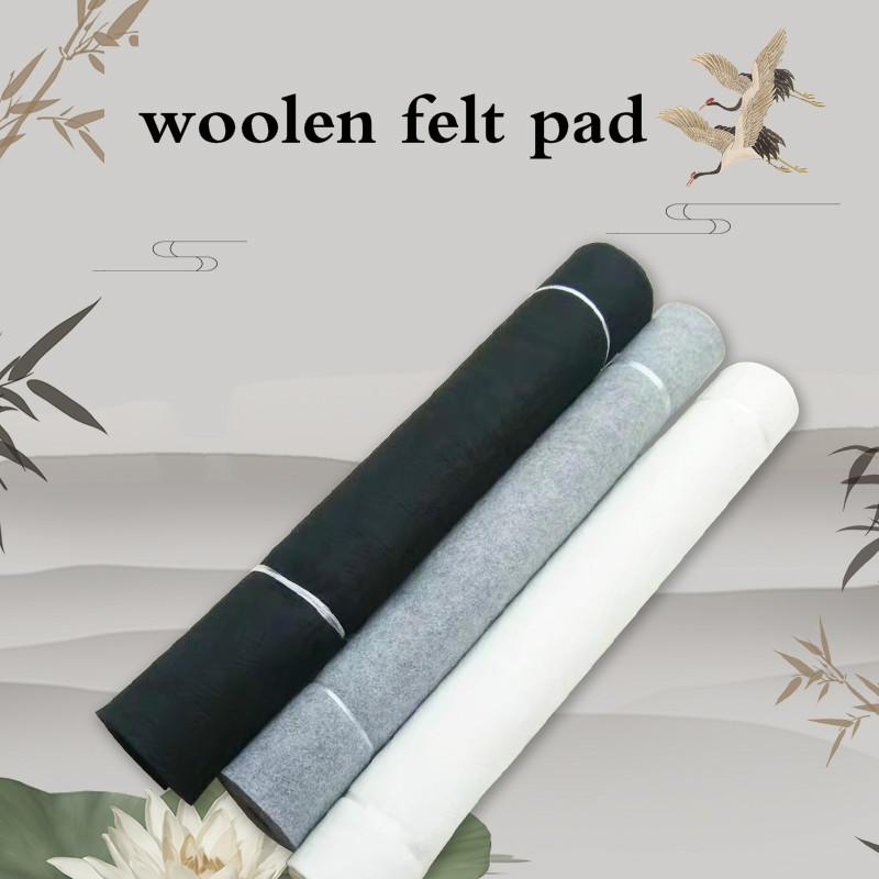 Chinese Calligraphy Felt Pad Brush Ink Painting Pure Woolen Felt Pad Thicken Soft Washable Woolen Table Mat 6mm Peinture Feutre