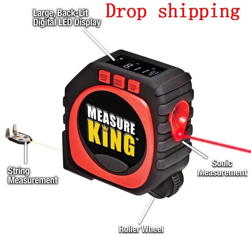 3 In 1 Professional  Measuring Tape With Roll Cord Mode High Accuracy Laser Digital Tape High Impact Measuring Tool