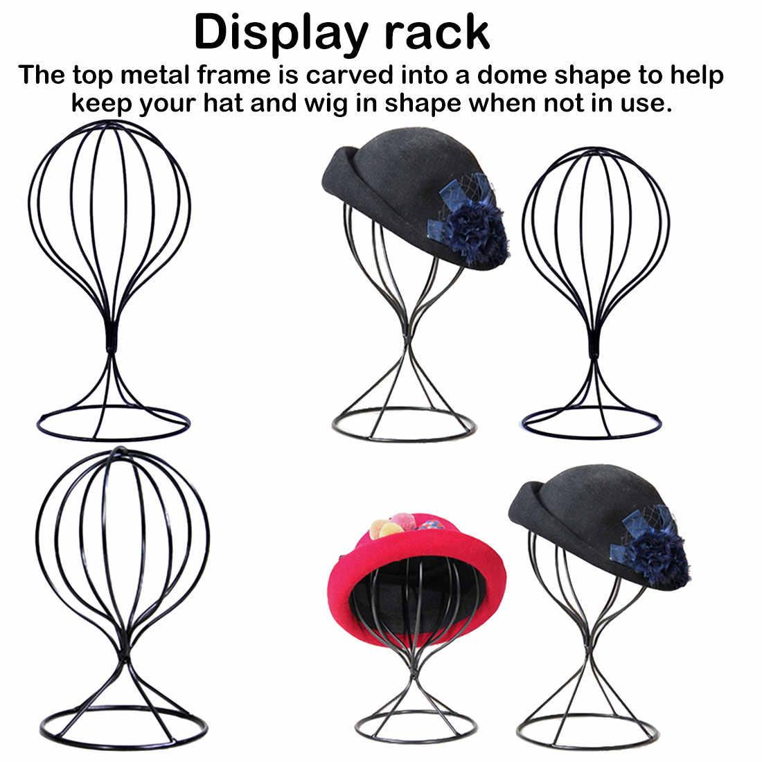 Полый шар, металлический парик, стойка для волос, Настольная декоративная шляпа, держатель для крышки, новый металлический парик, рамка, форма для головы, стенд для дисплея