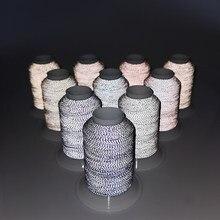 Светоотражающая нить из полиэстера, 1000 м, ручная вышивка, 75d/2 ночи, разные цвета, для защитной крышки, одежды, заводского магазина