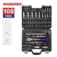 WORKPRO 108PC Tool Set for Car Repair Tools