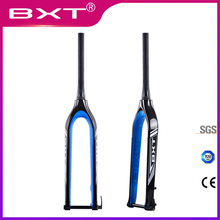 цена на BXT Mountain bike 29er full carbon fork MTB bicycle fork Tapered cone Thru Axle 15mm 2019 NEW Bike fork 29inch Free shipping