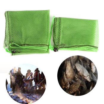 Wędkarska siatka pułapka prosta z torbą na ryby Tackle siatka nylonowa obsada akcesoria tanie i dobre opinie JULYHOT CN (pochodzenie) Other Małe oczka Fishing Net 0 75m 1m Sieci rybackie