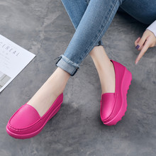 Women Sneakers Tennis-Shoes Platform Female Outdoor Breathable Slip-On Footwear Thick-Bottom