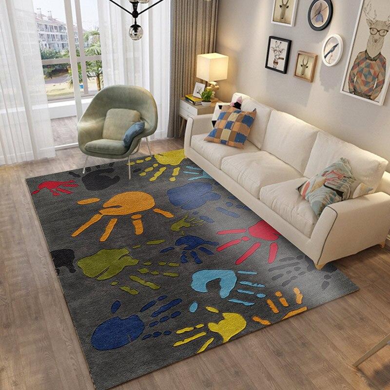Carpet Living Room Rug Blanket Children's Mat Climbing Mat Bedroom Full Bed Blanket Non-slip Wash Mat Gray Alfombra Gift