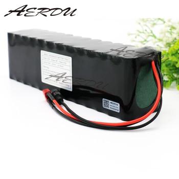 Batería de iones de litio AERDU 13S4P 48V 12,8ah 1000 vatios para Scooter de bicicleta eléctrica MH1 54,6 v con descarga de 25 a BMS