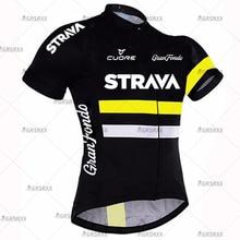 STRAVA רכיבה על אופניים ג רזי MTB ג רזי 2021 אופניים צוות רכיבה על אופניים חולצות גברים שרוול קצר אופניים ללבוש קיץ פרימיום אופניים בגדים