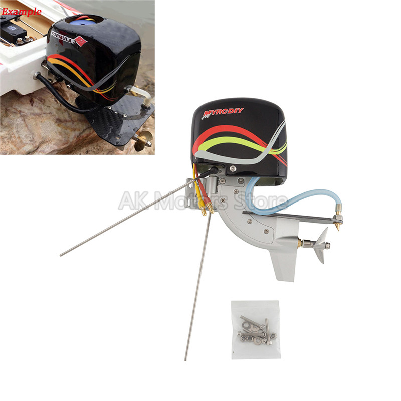 TFL Outboard Gear Drive System CNC Rc Boat Tail Power Outboard Brushless Motor Prop Watercool Mount Steering Function
