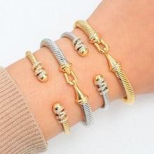 GODKI Trendy Luxury Stackable Bangle Cuff For Women Wedding Full Cubic Zircon Crystal CZ Dubai Bracelet Party Jewelry2019