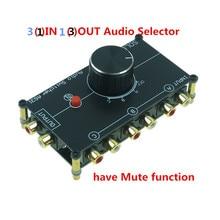 Stereo RCA wejściem audio źródło przełącznik sygnału przejsciówka dystrybutora pole wyboru 3 sposoby w 1 na zewnątrz