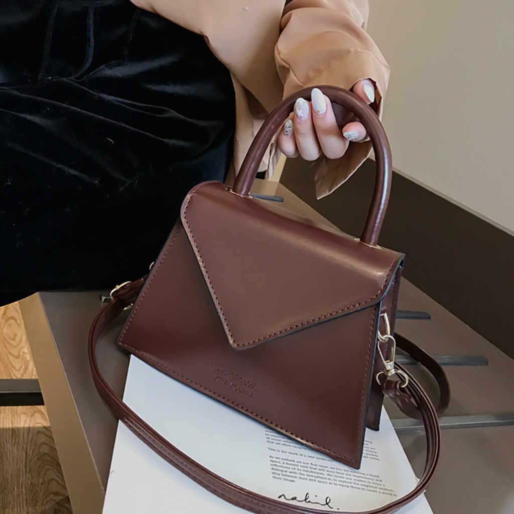 Bolsa feminina casual de ombro, bolsa de mão quadrada ombro h