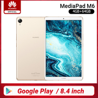 Original Huawei Mediapad M6 Tablet 64GB WIFI LTE Kirin980 Octa Core Turbo 8.4 Inch Android 9.0 With Google play 6100mAh Type C