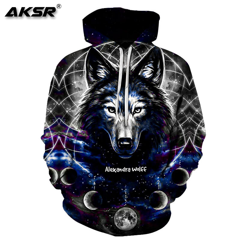 AKSR 2019 Autumn Men 3D Hoodies Sweatshirt Funny Hoodie Pullover Hooded Sweatshirts Hip Hop Men Hoodie 3D Streetwear Sudaderas