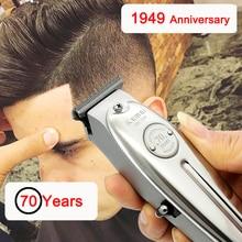 Kemei KM 1949/1910/2024 tondeuse à cheveux électrique sans fil, outil en métal pour coiffeur avec un lambeau en T, belle finition et rasage à 0mm