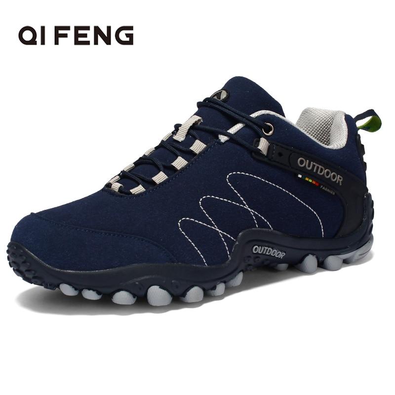 6 Color Men Women Outdoor Sports Hiking Boots Unisex Trekking Shoes Rock Mountain Climbing Sneakers Couple Training Classic