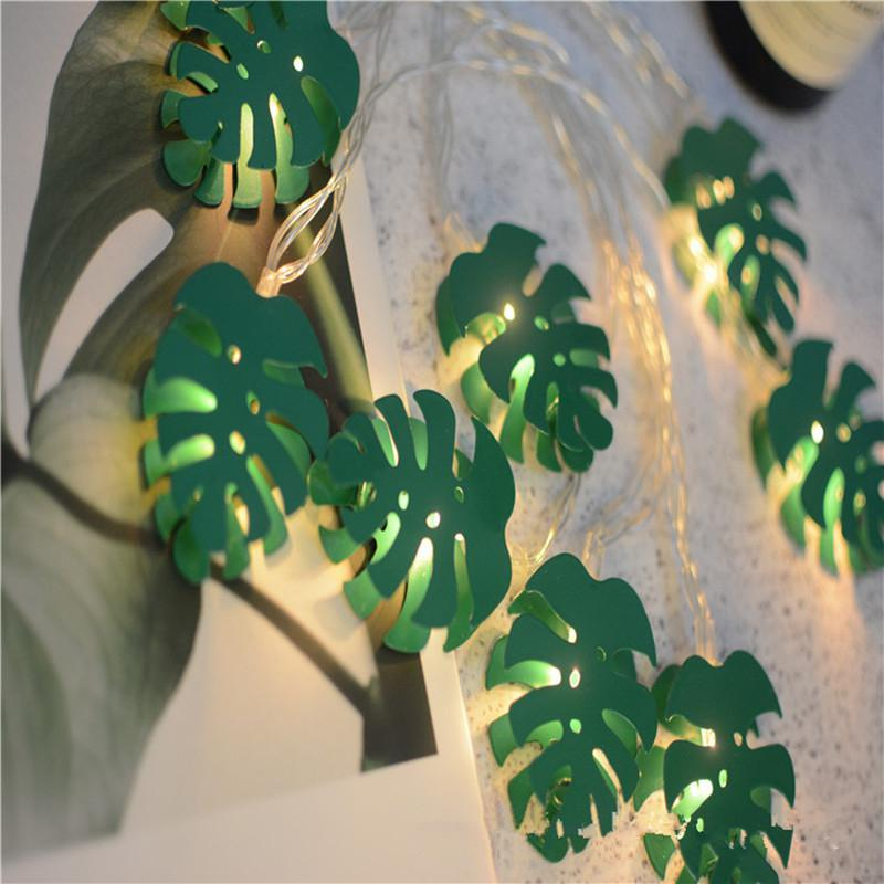 2M/3M 10LEDs/20LEDs Monstera Shape String Light Photo Props For Home Decoration