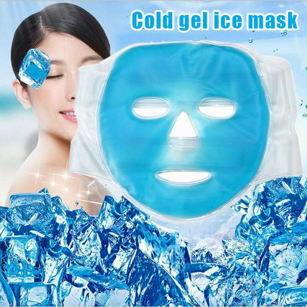 1Pc Gel Facial Mask Hot Cold Compress Pack Reusable Gel Face Mask For Puffy Eyes, Migraines, Inflamed Skin