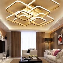 Modern Led Chandelier Fixtures Luminaires Bedroom Lustres Living-Room Ce 220V 110V
