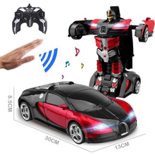 29CM 1:14 RC Car 2.4Ghz Induction Transformation Car Robot Electric Deformation Music Gesture Remote Control Toy Car for Boy B01