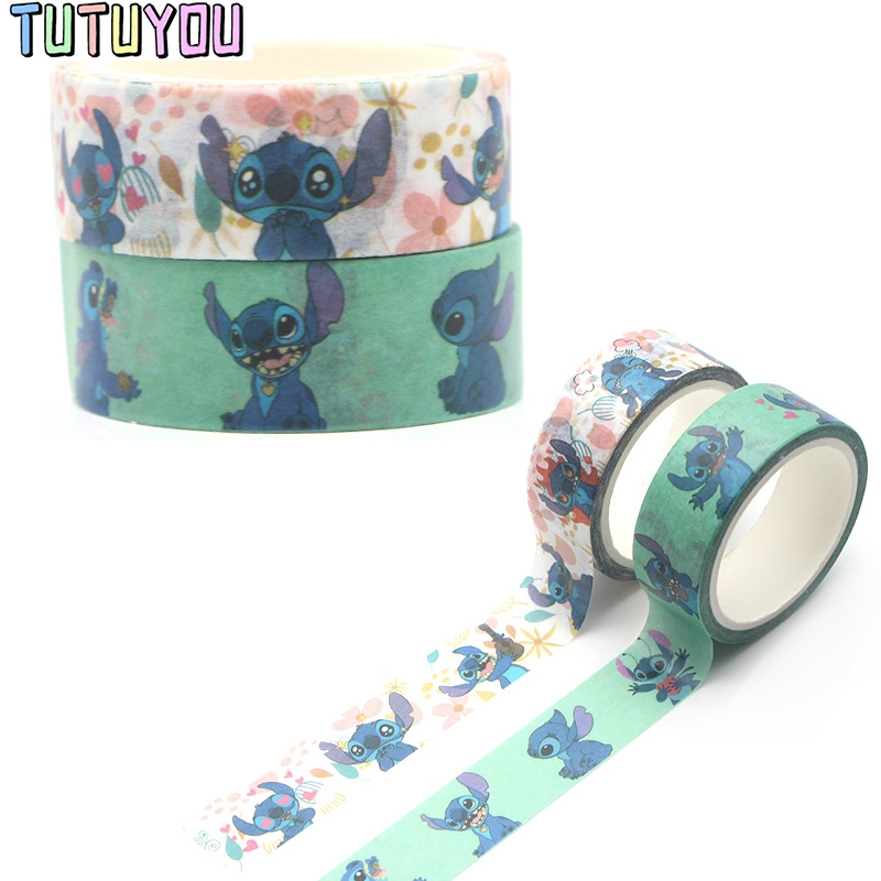 PC299 Stitch Painting Washi Tape Set Adhesive Tape DIY Decoration Sticker Scrapbooking Diary Masking Tape Stationery Supply