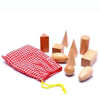 1 zestaw matematyka drewniane bloczki zabawki Montessori matematyka Juguetes geometria bloki drewniane nauka edukacja tanie i dobre opinie none Drewna 5-7 lat Sport