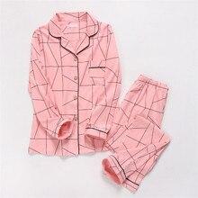100% Cotton Gauze Thin Maternity Wear Women Pajamas Set Loose Home Clothing Knit Men Sleepwear Lovers Autumn Winter