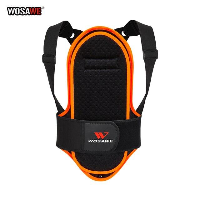 WOSAWE protezione per la schiena del motociclo per bambini gilet pattinaggio a rotelle sci speciale rimovibile sport supporto per la schiena per bambini armatura protettiva