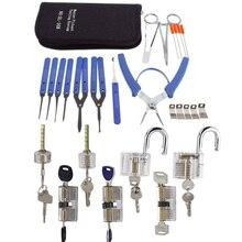 Klom Hand Pick Set Werkzeug mit Transparent Schlösser Kombination für Praxis, 7 stücke Transparent Schlösser und Gebrochen Schlüssel Pick Entfernen Werkzeug