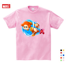 2020 Cute Kirby Girl T Shirt Game Kids T-shirts Kirby Star Allies Characters Children Summer Tops Boy Cartoon Anime Pink Pattern cute kirby girl star hoodies kids game hoodies sweatshirts allies characters children winter long sleeves tops pink sweatshirts