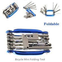 Juego de herramientas de reparación de bicicletas, herramienta de reparación de bicicletas, llave, destornillador, cadena de acero al carbono, herramienta multifunción