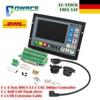 [EU New Arrival] 4 Axis DDCS V3.1 Standalone Motion Offline CNC Controller 5 inches TFT screen