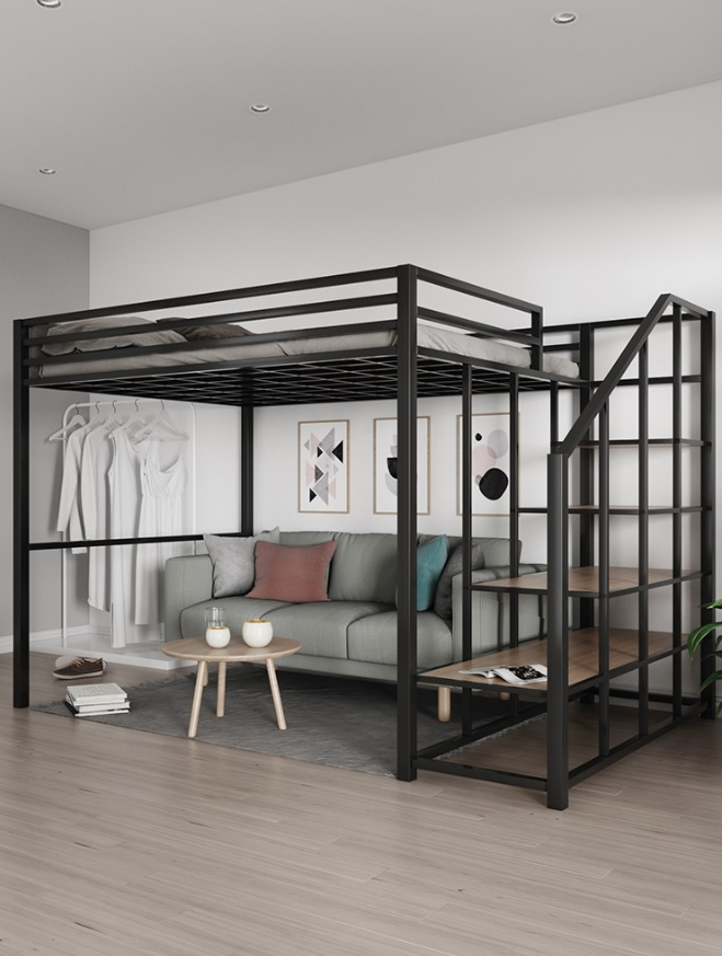 12Beds Pack, 1.6m High Loft Bed With Book Shelf Ladder / Metal Constructions