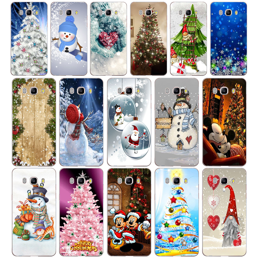 22AA Christmas holiday Tree New Year gift Soft Silicone Tpu Cover phone Case for Samsung Galaxy J3 J5 2016 2017 case image