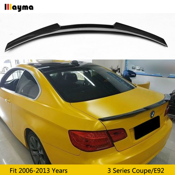 M4 style carbon fiber rear trunk lip For BMW 3 series coupe 320i 330i 335i 2006 - 2013 E92 M3 Car styling spoiler wing image