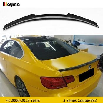 цена на M4 style carbon fiber rear trunk lip For BMW 3 series coupe 320i 330i 335i 2006 - 2013 E92 M3 Car styling spoiler wing