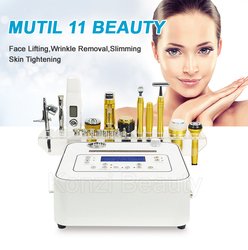 2019 Hot 10 in 1 diamond microdermabrasion multifunction beauty equipment/microcurrent facial skin energy activation instrument