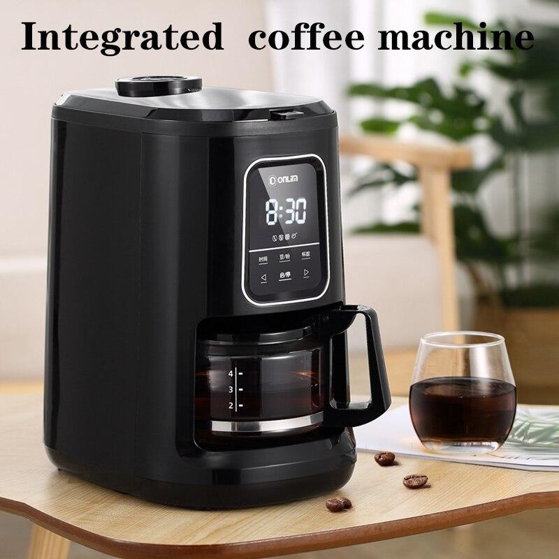 Кофемашина домашняя Автоматическая шлифовальная машина для зерен американская капельная маленькая офисная кофемашина
