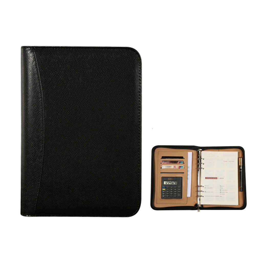 Ежедневный блокнот из искусственной кожи A5 с калькулятором, спиральный личный ежедневник, блокнот-Органайзер