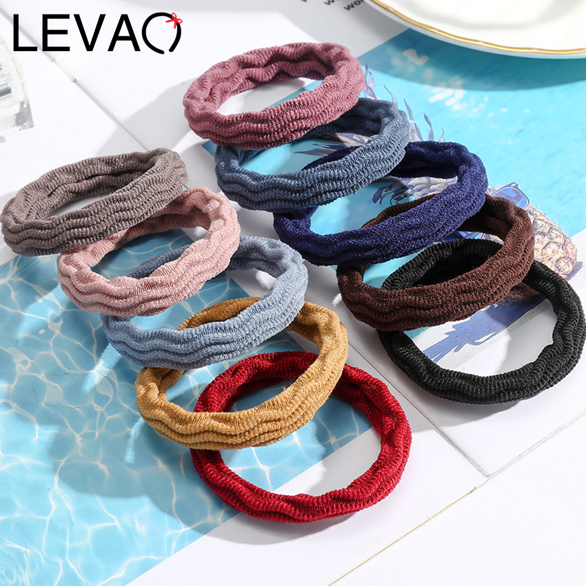New 10PCS Women Girls Simple Basic Elastic Hair Bands Tie Gum Scrunchie Ponytail Holder Rubber Bands Fashion Hair Accessories