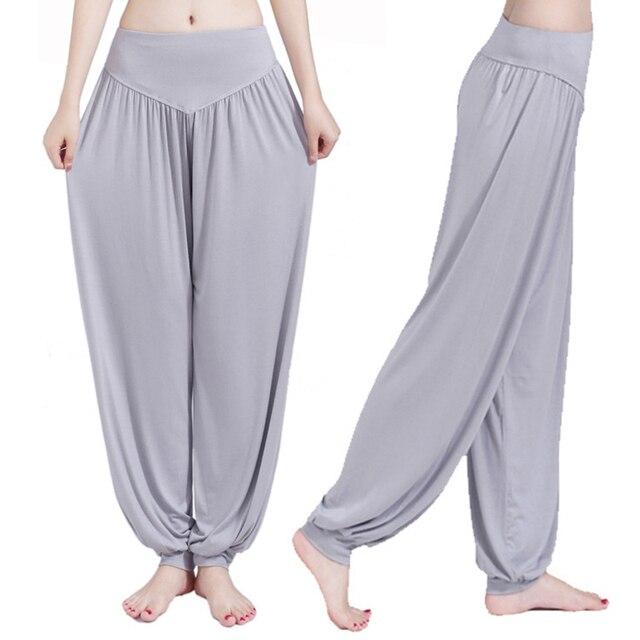 Wide Leg Yoga Pants Women Loose Pants Long Trousers for Yoga Dance  M L XL XXL XXXL Soft Modal Home Pants Yoga TaiChi Pants 4